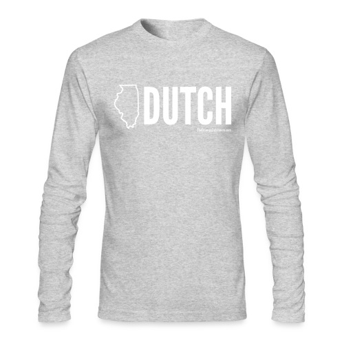 Illinois Dutch (White Text) - Men's Long Sleeve T-Shirt by Next Level