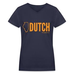 Illinois Dutch (orange) - Women's V-Neck T-Shirt
