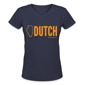 Illinois Dutch (orange) - Women's V-Neck T-Shirt