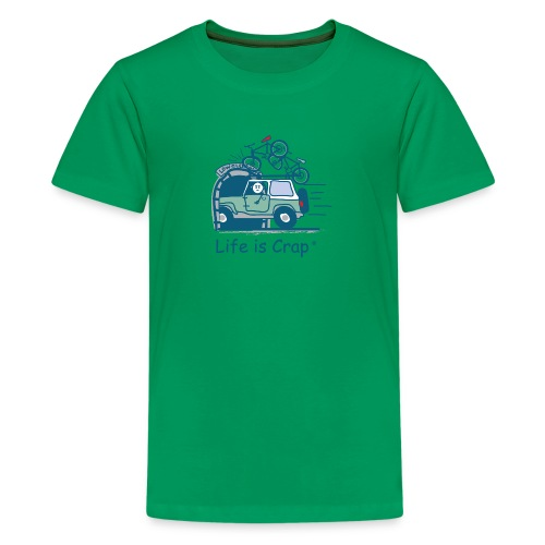 Jeep Mountain Bike Overpass - Kids' Premium T-Shirt
