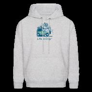 Hoodies ~ Men's Hoodie ~ Jeep Mountain Bike Overpass - Mens Hooded Sweatshirt