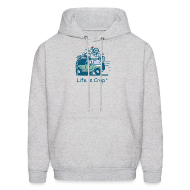 Hoodies ~ Men's Hooded Sweatshirt ~ Jeep Mountain Bike Overpass - Mens Hooded Sweatshirt