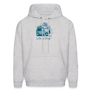 Jeep Mountain Bike Overpass - Mens Hooded Sweatshirt - Men's Hoodie