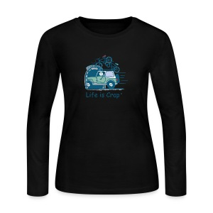 Jeep Mtn Bike Overpass - Womens - Women's Long Sleeve Jersey T-Shirt