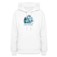 Hoodies ~ Women's Hooded Sweatshirt ~ Jeep Mountain Bike Overpass - Womens Hooded Sweatshirt