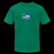 T-Shirts ~ Men's T-Shirt by American Apparel ~ Jeep Mountain Bike Overpass Men's T-Shirt by American Apparel