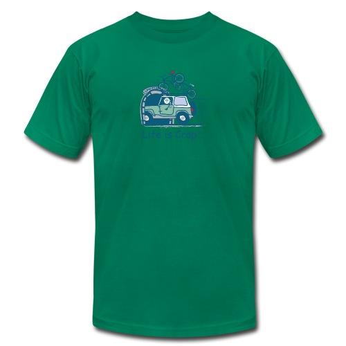 Jeep Mountain Bike Overpass Men's T-Shirt by American Apparel - Men's Fine Jersey T-Shirt