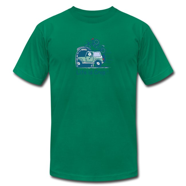 Jeep Mountain Bike Overpass Men s T-Shirt by American Apparel 61fae36d5
