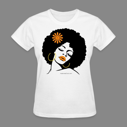 Afro Diva w/ Orange Flower - Women's T-Shirt