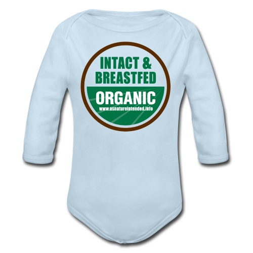 As Nature Intended [2 Sided/Text Change] - Organic Long Sleeve Baby Bodysuit