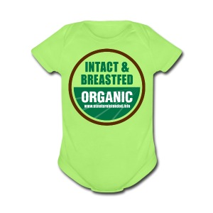As Nature Intended [2 Sided/Text Change] - Short Sleeve Baby Bodysuit