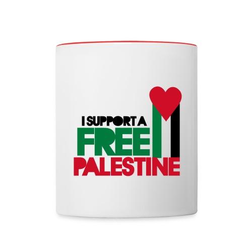 FREEDOM FOR PALESTINE MUG - Contrast Coffee Mug