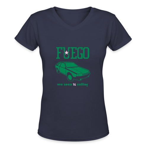 Rogue Fuego With (Green/Pink) - Women's V-Neck T-Shirt