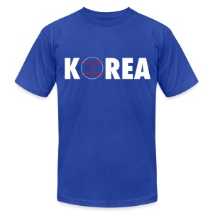 Korea Baseball - Men's T-Shirt by American Apparel