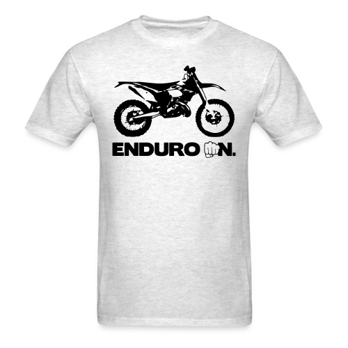 2Stroke Enduro On - Black Logo - Men's T-Shirt