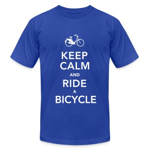 Keep Calm And Ride A Bike - Men's Fine Jersey T-Shirt