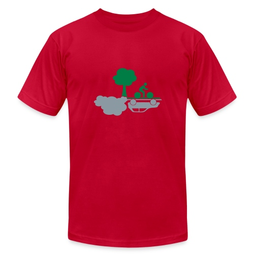 Bike Clean Air - Men's  Jersey T-Shirt