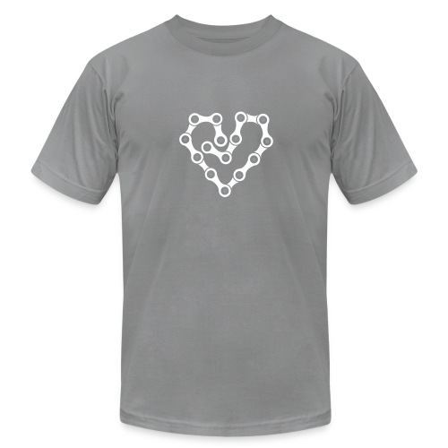 Bike Chain Heart - Men's  Jersey T-Shirt
