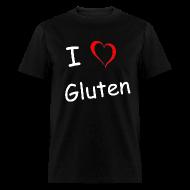 T-Shirts ~ Men's T-Shirt ~ I Heart Gluten