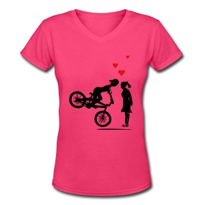 Bike Love - Women's V-Neck T-Shirt