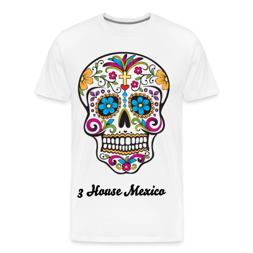 3 House Mexico Day of the Dead  - Men's Premium T-Shirt