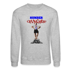 Number Cruncher Men's Crewneck Sweatshirt - Crewneck Sweatshirt