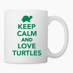 Keep calm and love Turtles Bottles & Mugs