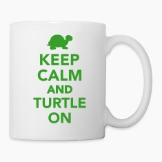 Keep calm and turtle on Bottles & Mugs