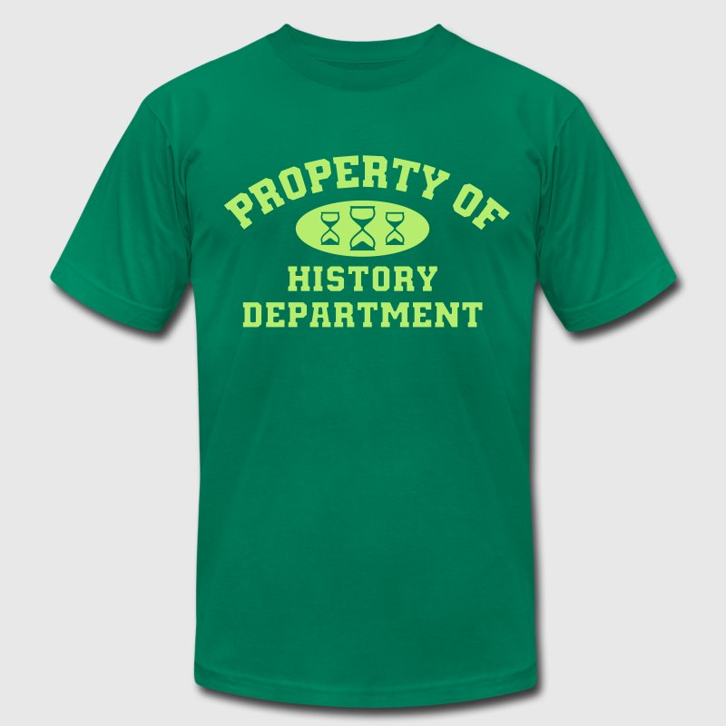 Property of history department t shirt spreadshirt for Property of shirt designs