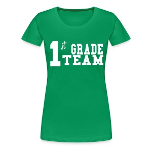 1st Grade Team-Customize Back With Name   - Women's Premium T-Shirt