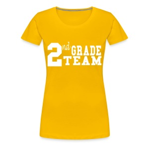 2nd Grade Team-Customize Back With Name- colors  - Women's Premium T-Shirt
