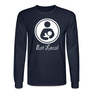 Eat Local [2 Sides / Text Change] - Men's Long Sleeve T-Shirt