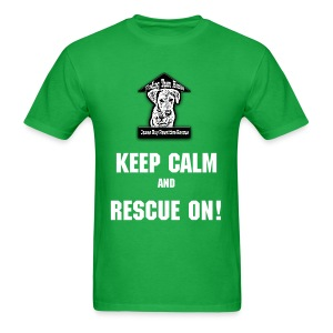 Keep Calm and Rescue On! Men's Tee - Men's T-Shirt