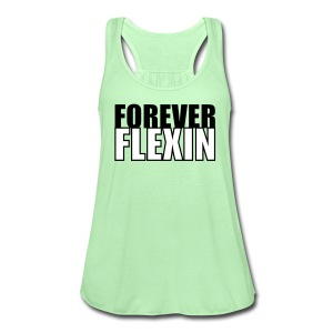 Forever Flexin Flowy Racerback Tank Top - Women's Flowy Tank Top by Bella