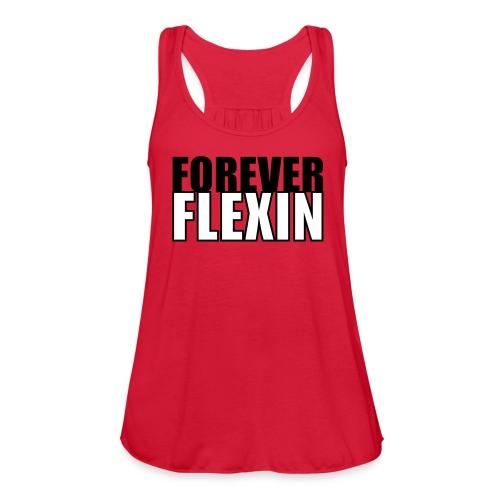 Forever Flexin Flowy Racerback Tank Top - Women's Flowy Tank Top by Bella