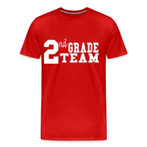 2nd Grade Team-Customize Back With Name Mens - Men's Premium T-Shirt
