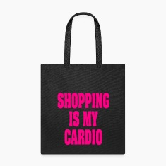 COUPONING IS MY CARDIO | FUNNY SHOPPING TOTE BAG