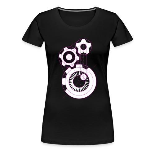 Influx Logo Structure (womens) - Women's Premium T-Shirt