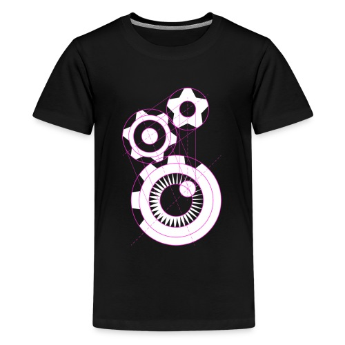Influx Logo Structure (kids) - Kids' Premium T-Shirt