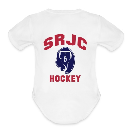 Kid's SRJC Hockey Short Sleeve One Piece - Organic Short Sleeve Baby Bodysuit