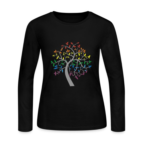 Tree of Pride - Women's Long Sleeve Jersey T-Shirt
