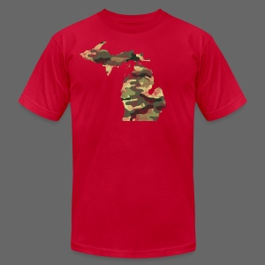 Camouflage Michigan - Men's T-Shirt by American Apparel
