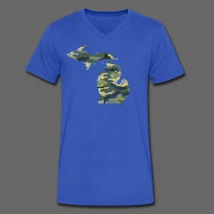 Camouflage Michigan - Men's V-Neck T-Shirt by Canvas