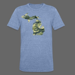 Camouflage Michigan - Unisex Tri-Blend T-Shirt by American Apparel