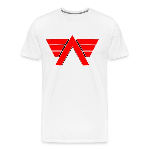 White shirt Red Logo - Men's Premium T-Shirt