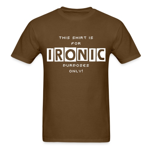 The Ironic Shirt of Irony (Avg. Men's) - Men's T-Shirt