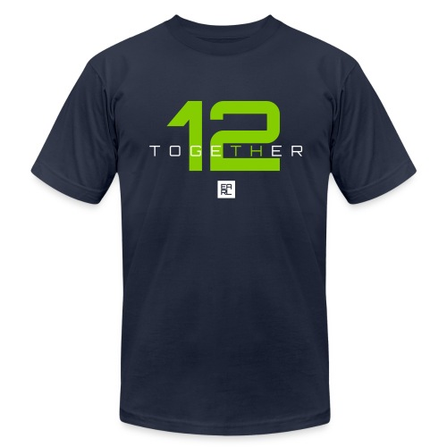Together (Green/White) - Men's  Jersey T-Shirt