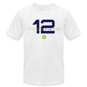 Together (Navy/Green) - Men's Fine Jersey T-Shirt