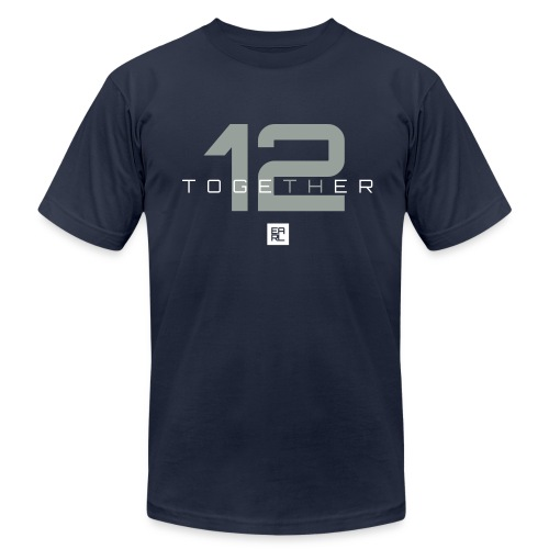 Together (Gray/White) - Men's Fine Jersey T-Shirt