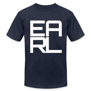 Earl Logo (White) - Men's Fine Jersey T-Shirt